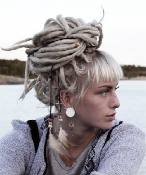 baby bangs extreme blonde women dreadlocks styles