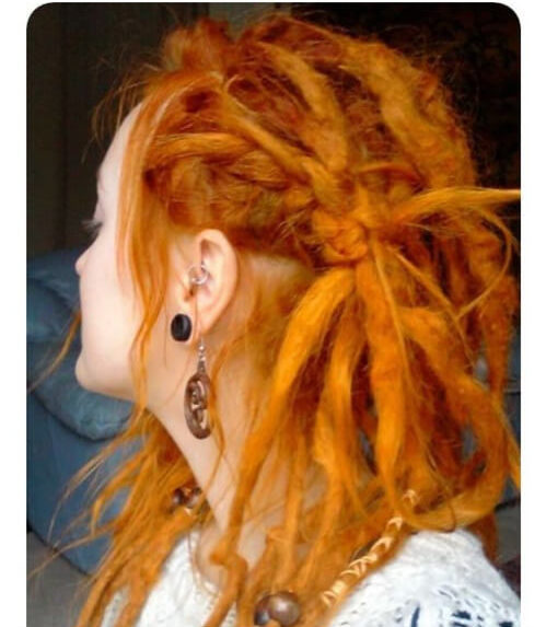 ginger women dreadlocks styles