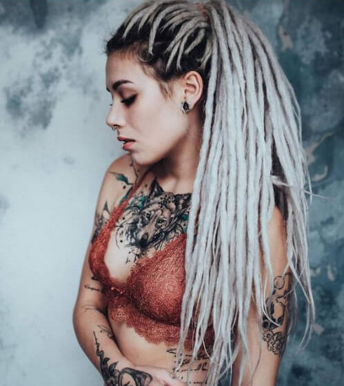 ponytail extreme blonde women dreadlocks styles