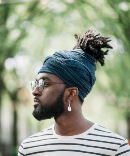 turban dreadlocks ponytail