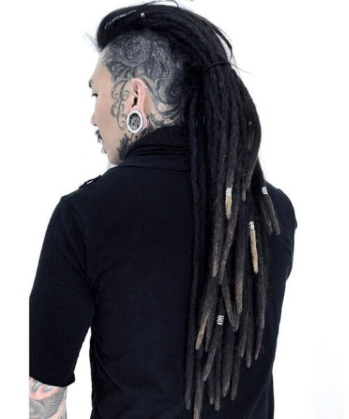 long Mohawk Dreads Styles