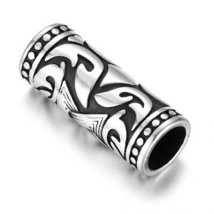 Tube dreadlocks beads viking