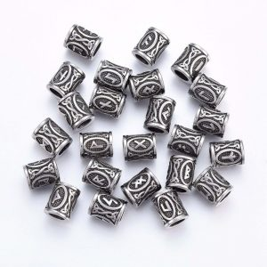 vikings dreadlock beads