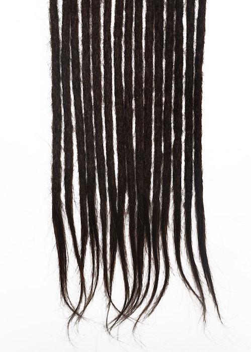 Dark brown #2 human hair dreadlocks extensions