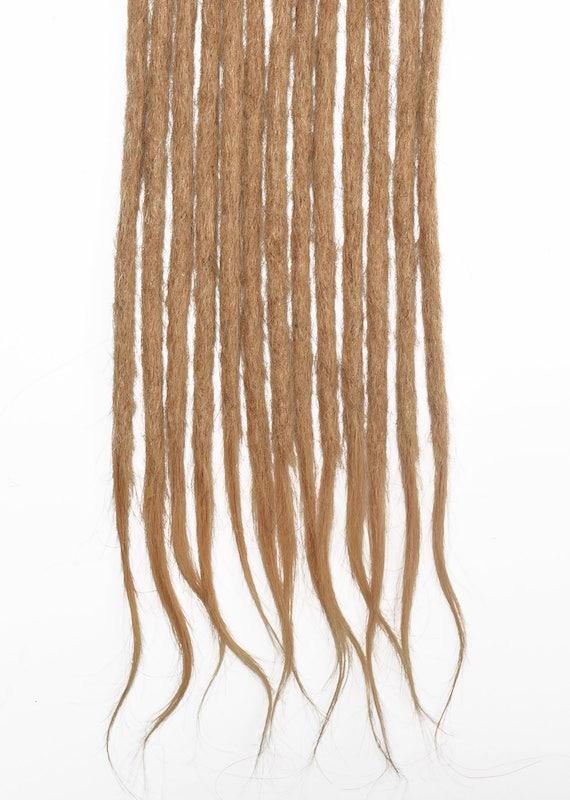 Honey blonde #26 human hair dreadlocks extensions