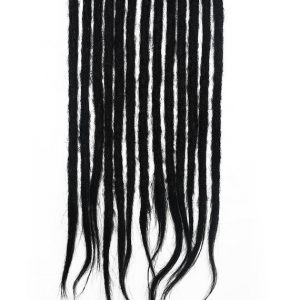 Natural black #1b human hair dreadlocks extensions