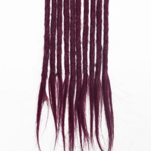 Purple human hair dreadlocks extensions