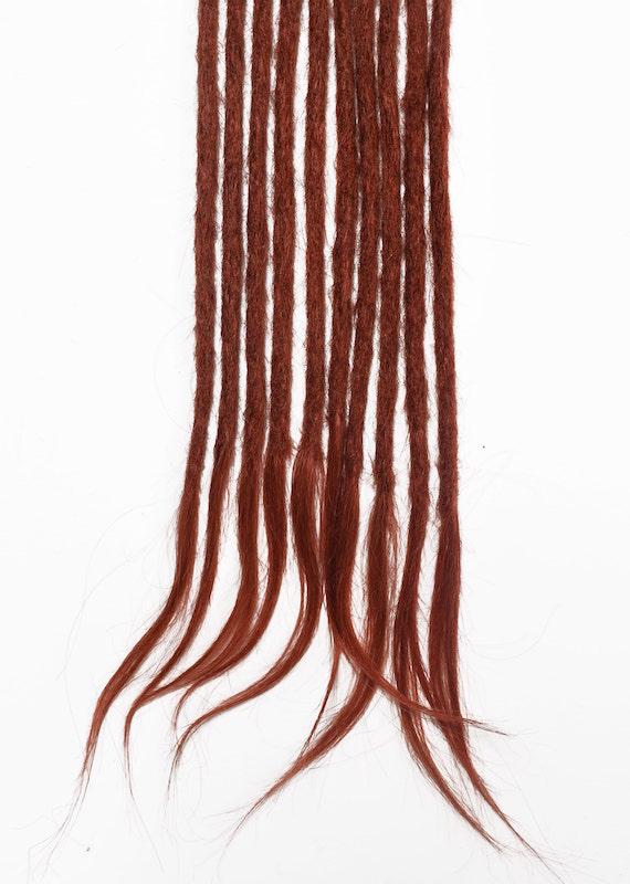 Wine red human hair dreadlocks extensions